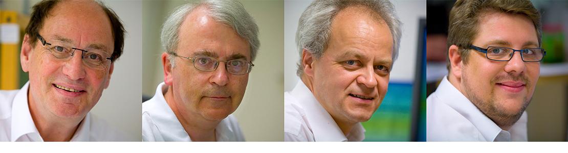 Porträtbilder unserer Ärzte Dr. Maqua, Dr. Rado, Dr. Leisten, Hr. Jacobs